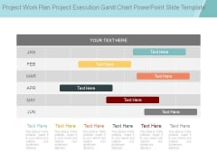 Project Work Plan Project Execution Gantt Chart Powerpoint Slide Template
