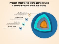Project Workforce Management With Communication And Leadership Ppt PowerPoint Presentation Pictures Guidelines PDF