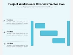 Project Workstream Overview Vector Icon Ppt PowerPoint Presentation Summary Graphics PDF
