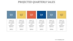 Projected Quarterly Sales Ppt PowerPoint Presentation Files