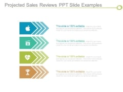 Projected Sales Reviews Ppt Slide Examples