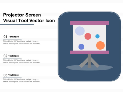 Projector Screen Visual Tool Vector Icon Ppt PowerPoint Presentation File Elements PDF