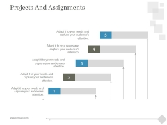 Projects And Assignments Ppt PowerPoint Presentation Deck
