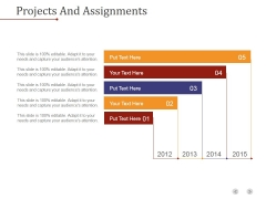 Projects And Assignments Template 1 Ppt PowerPoint Presentation Design Templates