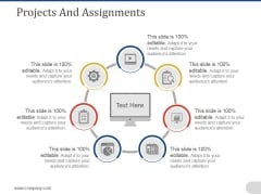 Projects And Assignments Template 1 Ppt PowerPoint Presentation File Slide
