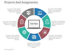 Projects And Assignments Template 2 Ppt PowerPoint Presentation Design Ideas