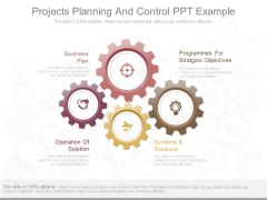 Projects Planning And Control Ppt Example
