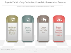 Projects Visibility Only Carrier Item Powerpoint Presentation Examples