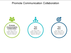 Promote Communication Collaboration Ppt PowerPoint Presentation Slides Rules Cpb