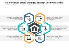 Promote Real Estate Business Through Online Marketing Ppt PowerPoint Presentation Infographic Template Master Slide