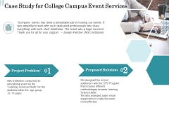 Promoting University Event Case Study For College Campus Event Services Ppt Gallery Layouts PDF