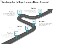 Promoting University Event Roadmap For College Campus Event Proposal Ppt Model Example File PDF