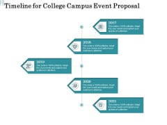 Promoting University Event Timeline For College Campus Event Proposal Ppt File Guidelines PDF