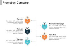 Promotion Campaign Ppt PowerPoint Presentation Outline Visual Aids Cpb