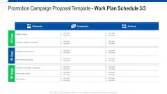 Promotion Campaign Proposal Template Work Plan Schedule Services Ppt Portfolio Objects PDF