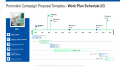 Promotion Campaign Proposal Template Work Plan Schedule Strategic Ppt Gallery Show PDF