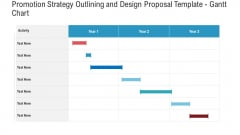 Promotion Strategy Outlining And Design Proposal Template Gantt Chart Clipart PDF