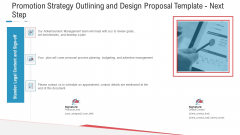 Promotion Strategy Outlining And Design Proposal Template Next Step Brochure PDF