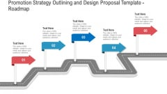 Promotion Strategy Outlining And Design Proposal Template Roadmap Mockup PDF