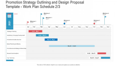 Promotion Strategy Outlining And Design Proposal Template Work Plan Schedule Campaign Pictures PDF