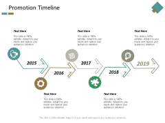 Promotion Timeline Five Year Process Ppt Powerpoint Presentation Summary Outfit