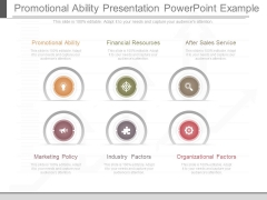 Promotional Ability Presentation Powerpoint Example