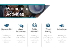 Promotional Activities Template 1 Ppt PowerPoint Presentation Slide