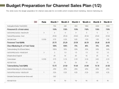 Promotional Channels And Action Plan For Increasing Revenues Budget Preparation For Channel Sales Plan Cost Information PDF