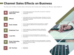 Promotional Channels And Action Plan For Increasing Revenues Channel Sales Effects On Business Formats PDF