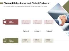 Promotional Channels And Action Plan For Increasing Revenues Channel Sales Local And Global Partners Diagrams PDF