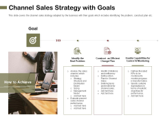 Promotional Channels And Action Plan For Increasing Revenues Channel Sales Strategy With Goals Themes PDF