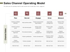 Promotional Channels And Action Plan For Increasing Revenues Sales Channel Operating Model Icons PDF