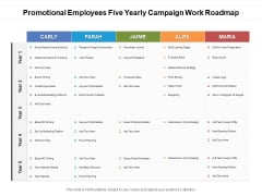 Promotional Employees Five Yearly Campaign Work Roadmap Rules
