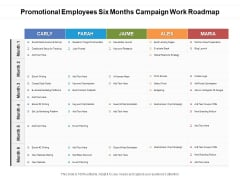 Promotional Employees Six Months Campaign Work Roadmap Portrait