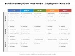 Promotional Employees Three Months Campaign Work Roadmap Ideas