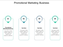 Promotional Marketing Business Ppt PowerPoint Presentation Ideas Slideshow
