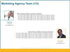Promotional Services Marketing Agency Team Ppt Infographic Template Maker PDF