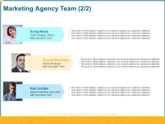 Promotional Services Marketing Agency Team Strategy Ppt Pictures Graphics PDF