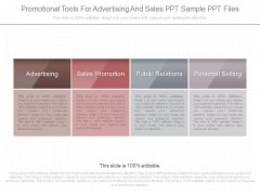 Promotional Tools For Advertising And Sales Ppt Sample Ppt Files