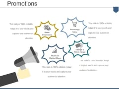 Promotions Ppt PowerPoint Presentation Gallery Smartart
