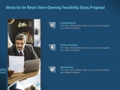 Proof Concept Variety Shop About Us For Retail Store Opening Feasibility Study Proposal Infographics PDF