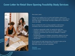 Proof Concept Variety Shop Cover Letter For Retail Store Opening Feasibility Study Services Slides PDF