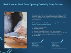 Proof Concept Variety Shop Next Steps For Retail Store Opening Feasibility Study Services Slides PDF