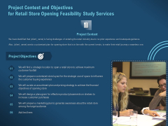 Proof Concept Variety Shop Project Context And Objectives For Retail Store Opening Feasibility Study Services Template PDF