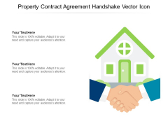Property Contract Agreement Handshake Vector Icon Ppt PowerPoint Presentation Show Visuals PDF