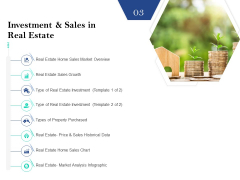 Property Investment Strategies Investment And Sales In Real Estate Ppt PowerPoint Presentation Slides Example PDF