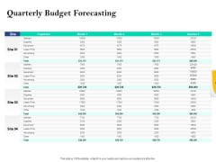 Property Investment Strategies Quarterly Budget Forecasting Ppt PowerPoint Presentation Outline Demonstration