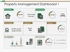Property Management Dashboard Reconciliation Ppt PowerPoint Presentation Portfolio Graphics Example