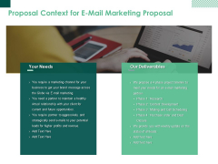 Proposal Context For E Mail Marketing Proposal Ppt PowerPoint Presentation Slides Guide
