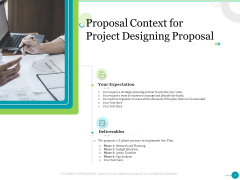 Proposal Context For Project Designing Proposal Ppt Icon Styles PDF